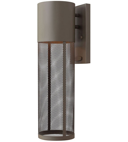 Hinkley Lighting Aria 1 Light Outdoor Wall Lantern in Buckeye Bronze 2304KZ-LED photo