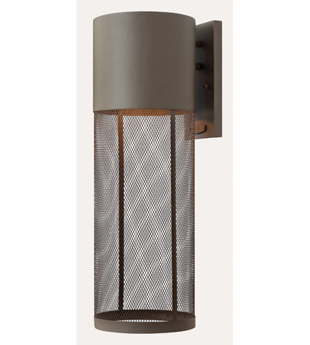Hinkley Lighting Aria 1 Light Outdoor Wall Lantern in Buckeye Bronze 2305KZ-ES