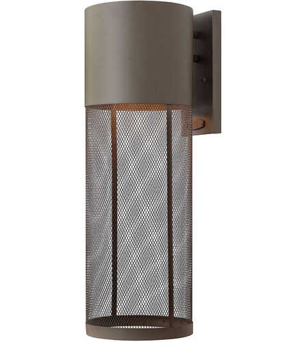 Hinkley Lighting Aria 1 Light Outdoor Wall Lantern in Buckeye Bronze 2305KZ