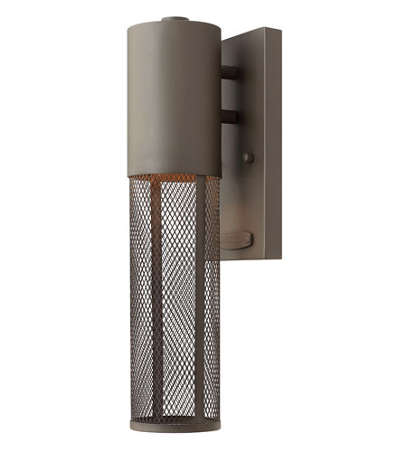 Hinkley Lighting Aria 1 Light Outdoor Wall Lantern in Buckeye Bronze 2306KZ-ES