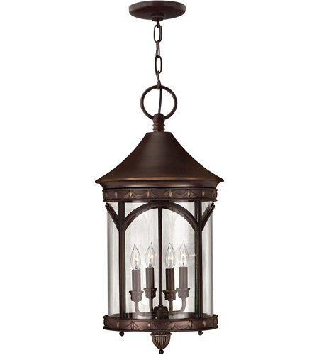 Hinkley 2312CB-LED Lucerne 1 Light 13 inch Copper Bronze Outdoor Hanging in LED, Clear Glass photo