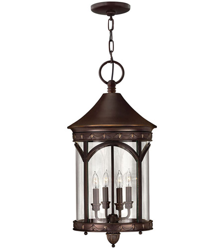 Hinkley Lighting Lucerne 4 Light Outdoor Hanging Lantern in Copper Bronze 2312CB