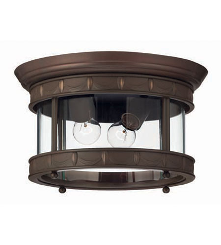 Hinkley Lighting Lucerne 2 Light Outdoor Flush Lantern in Copper Bronze 2313CB photo