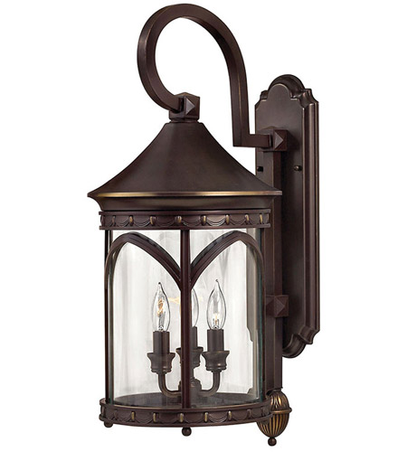 Hinkley 2314CB Lucerne 3 Light 25 inch Copper Bronze Outdoor Wall Lantern in Incandescent photo