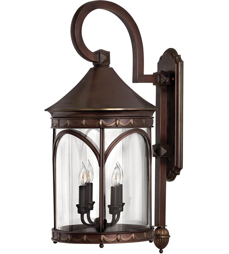 Hinkley Lighting Lucerne 4 Light Outdoor Wall Lantern in Copper Bronze 2315CB