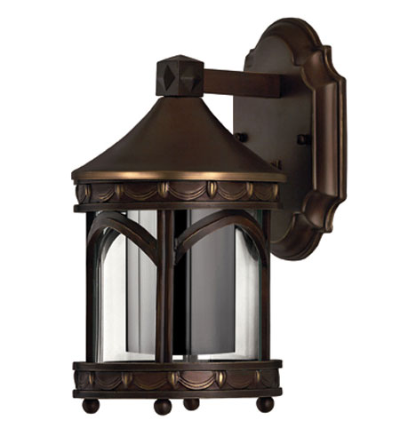 Hinkley Lighting Lucerne 1 Light Outdoor Wall Lantern in Copper Bronze 2316CB-DS