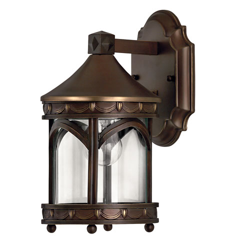Hinkley Lighting Lucerne 1 Light LED Outdoor Wall in Copper Bronze 2316CB-LED
