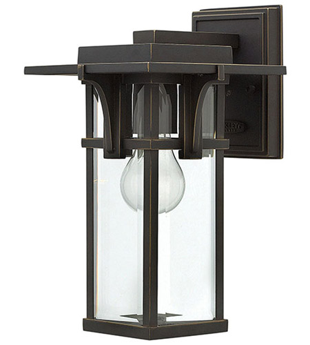 Hinkley 2320OZ Manhattan 1 Light 12 inch Oil Rubbed Bronze Outdoor Wall Mount in Incandescent photo