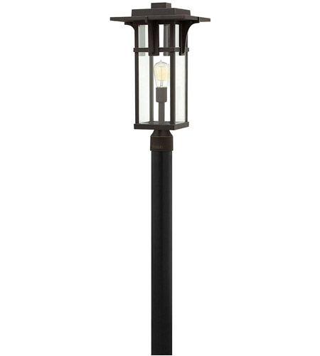 Hinkley Lighting Manhattan 1 Light Post Mount in Oil Rubbed Bronze 2321OZ photo