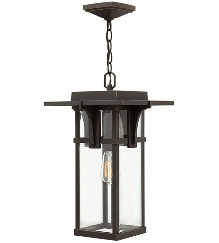 Hinkley Lighting Manhattan 1 Light Outdoor Hanging Lantern in Oil Rubbed Bronze 2322OZ photo