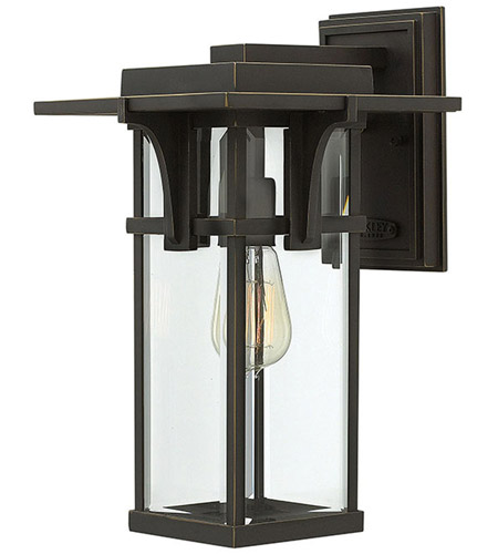 Hinkley 2324OZ Manhattan 1 Light 15 inch Oil Rubbed Bronze Outdoor Wall Mount in Incandescent photo