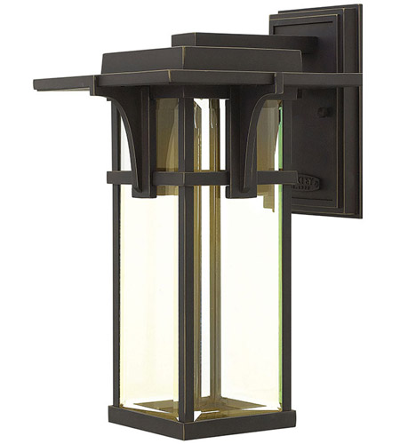 Hinkley Lighting Manhattan 1 Light Outdoor Wall in Oil Rubbed Bronze 2324OZ-LED
