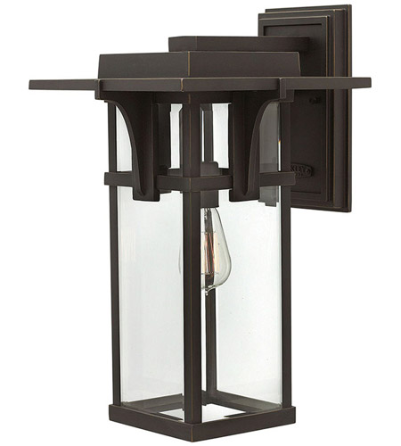 Hinkley 2325OZ Manhattan 1 Light 19 inch Oil Rubbed Bronze Outdoor Wall Mount in Incandescent photo