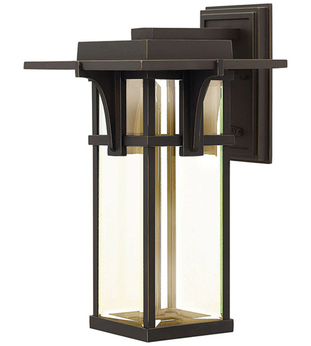 Hinkley Lighting Manhattan 1 Light Outdoor Wall in Oil Rubbed Bronze 2325OZ-LED
