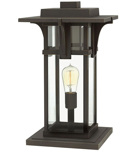 Hinkley 2327OZ Manhattan 1 Light 19 inch Oil Rubbed Bronze Pier Mount Head in Incandescent photo
