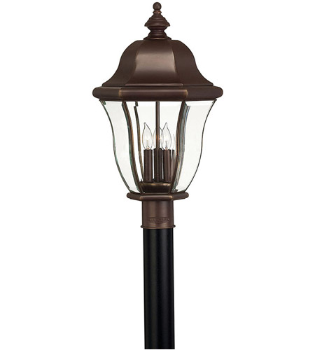 Hinkley 2331CB Monticello 3 Light 22 inch Copper Bronze Post Lantern, Post Sold Separately photo