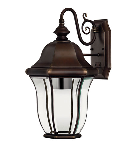 Hinkley Lighting Monticello 1 Light Outdoor Wall Lantern in Copper Bronze 2334CB-ESDS