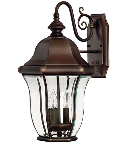 Hinkley Lighting Monticello 3 Light Outdoor Wall Lantern in Copper Bronze 2334CB