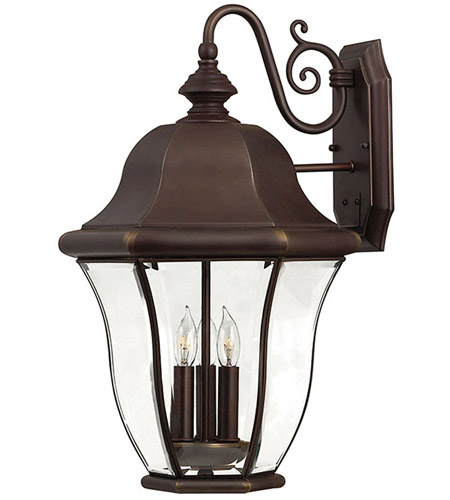 Hinkley Lighting Monticello 3 Light Outdoor Wall Lantern in Copper Bronze 2335CB