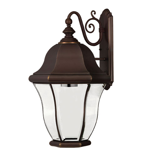 Hinkley Lighting Monticello 1 Light Outdoor Wall Lantern in Copper Bronze 2336CB-DS