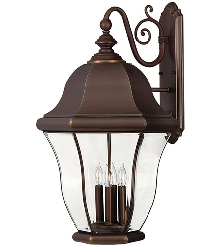 Hinkley Lighting Monticello 4 Light Outdoor Wall Lantern in Copper Bronze 2336CB