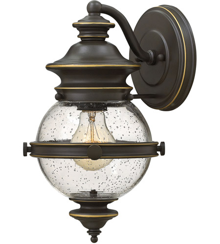 Hinkley 2340oz saybrook 1 light 12 inch oil rubbed bronze outdoor hinkley 2340oz saybrook 1 light 12 inch oil rubbed bronze outdoor wall mount clear seedy glass mozeypictures Image collections