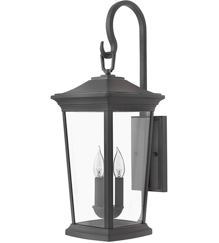 Hinkley 2366MB Bromley 3 Light 25 inch Museum Black Outdoor Wall Mount in Incandescent, Medium photo