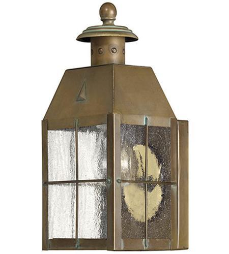 Hinkley Lighting Nantucket 1 Light Outdoor Wall Lantern in Aged Brass 2376AS