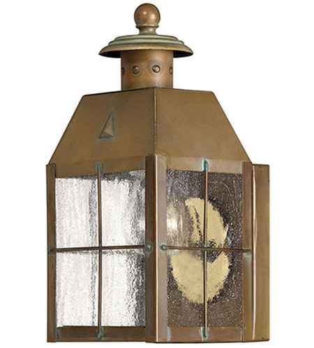 Hinkley 2376AS Nantucket 1 Light 10 inch Aged Brass Outdoor Wall Mount, Heritage photo