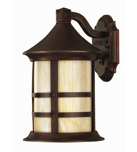 Hinkley Lighting Oak Park 1 Light Outdoor Wall Lantern in Copper Bronze 2390CB-DS