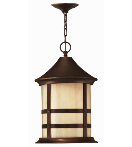 Hinkley Lighting Oak Park 1 Light Outdoor Hanging Lantern in Copper Bronze 2392CB-DS