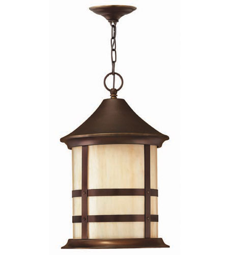 Hinkley Lighting Oak Park 3 Light Outdoor Hanging Lantern in Copper Bronze 2392CB photo