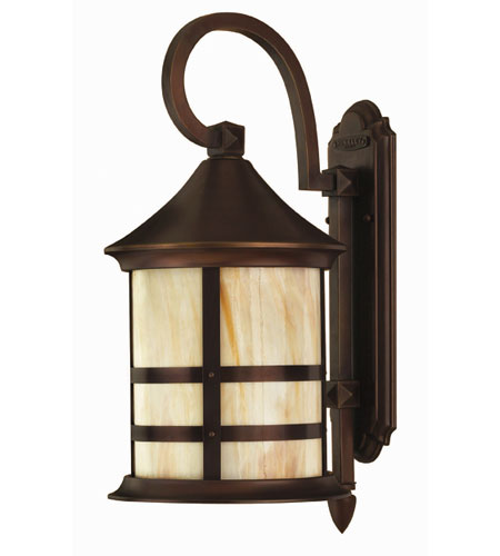 Hinkley Lighting Oak Park 1 Light Outdoor Wall Lantern in Copper Bronze 2394CB-ES