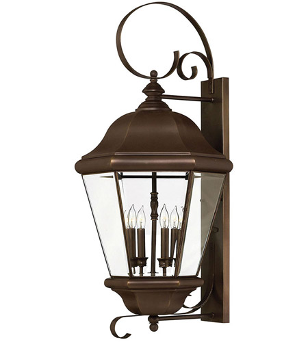 Hinkley Lighting Clifton Park 4 Light Outdoor Wall Lantern in Copper Bronze 2406CB photo