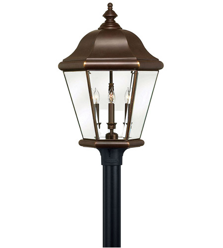 Hinkley 2407CB Clifton Park 4 Light 27 inch Copper Bronze Post Lantern, Post Sold Separately photo