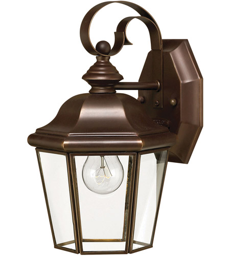 Hinkley Lighting Clifton Park 1 Light LED Outdoor Wall in Copper Bronze 2420CB-LED photo