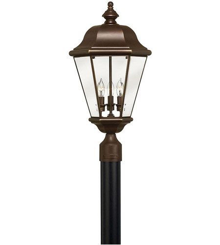 Hinkley 2421CB Clifton Park 3 Light 24 inch Copper Bronze Post Lantern, Post Sold Separately photo
