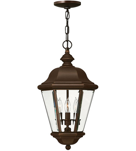 Hinkley Lighting Clifton Park 3 Light Outdoor Hanging Lantern in Copper Bronze 2422CB
