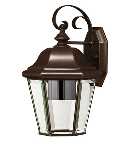 Hinkley Lighting Clifton Park 1 Light Outdoor Wall Lantern in Copper Bronze 2423CB-DS