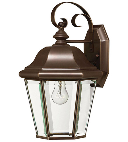 Hinkley 2423CB Clifton Park 1 Light 15 inch Copper Bronze Outdoor Wall Lantern in Incandescent photo