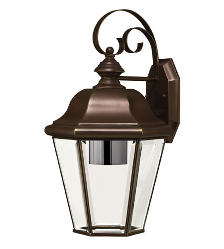 Hinkley Lighting Clifton Park 1 Light Outdoor Wall Lantern in Copper Bronze 2424CB-DS