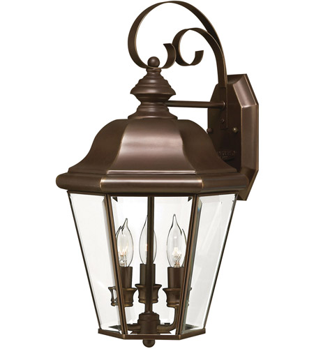 Hinkley 2424CB-LED Clifton Park 1 Light 19 inch Copper Bronze Outdoor Wall in LED, Clear Beveled Glass photo
