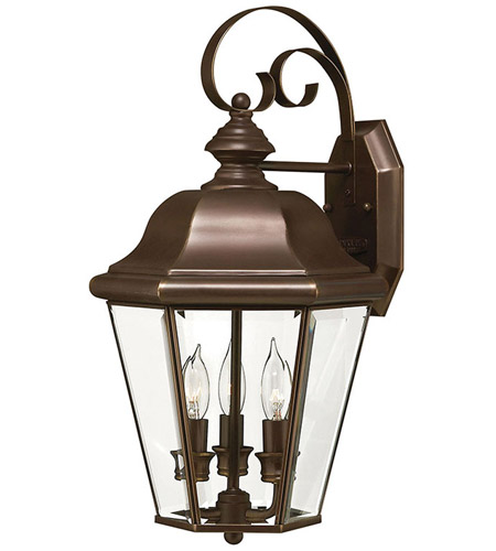 Hinkley Lighting Clifton Park 3 Light Outdoor Wall Lantern in Copper Bronze 2424CB