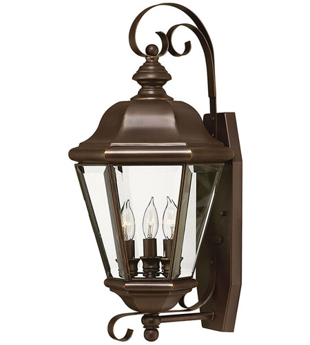Hinkley Lighting Clifton Park 3 Light Outdoor Wall Lantern in Copper Bronze 2426CB