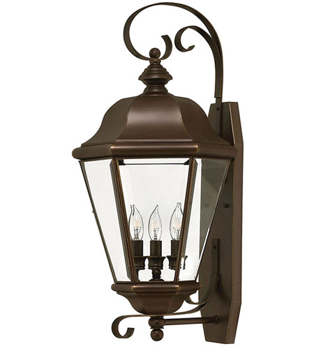 Hinkley Lighting Clifton Park 3 Light Outdoor Wall Lantern in Copper Bronze 2428CB photo