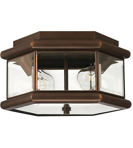 Hinkley 2429CB Clifton Park 2 Light 13 inch Copper Bronze Outdoor Flush Lantern photo