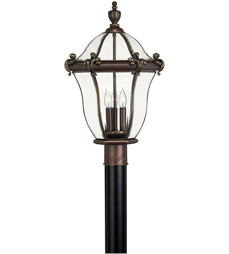 Hinkley 2441CB San Clemente 3 Light 23 inch Copper Bronze Post Lantern, Post Sold Separately photo