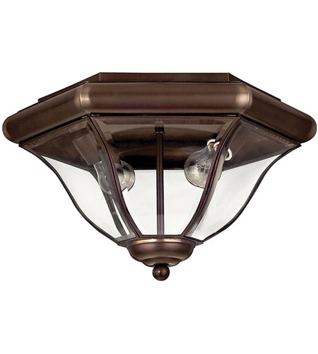 Hinkley Lighting San Clemente 2 Light Outdoor Flush Lantern in Copper Bronze 2443CB photo