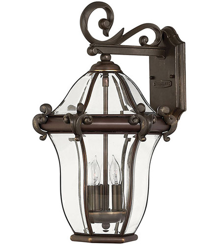 Hinkley Lighting San Clemente 3 Light Outdoor Wall Lantern in Copper Bronze 2444CB