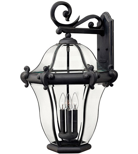 Hinkley 2446MB San Clemente 4 Light 28 inch Museum Black Outdoor Wall Lantern photo